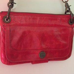 DONALD J PLINER Red Leather Clutch